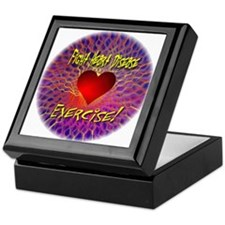 Fight Heart Disease Exercise Keepsake Box