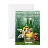 Granddaughter Fairy Greeting Card Fairy On Telepho