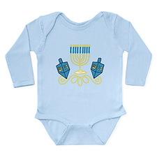Hanukkah Long Sleeve Infant Bodysuit