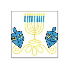 "Hanukkah Square Sticker 3"" x 3"""