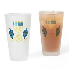 Hanukkah Drinking Glass