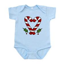 Candy Cane Heart Infant Bodysuit