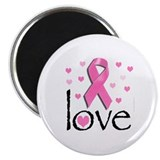 "Breast Cancer Pink Ribbon 2.25"" Magnet (10 pack)"