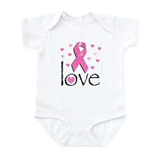 Breast Cancer Pink Ribbon Infant Bodysuit