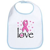 Breast Cancer Pink Ribbon Bib