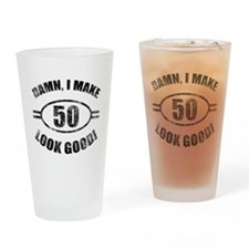 Unique 50th birthday Drinking Glass