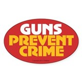 OTG 34 Guns Prevent Crime Decal