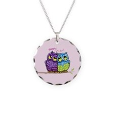 Owls in Love Necklace