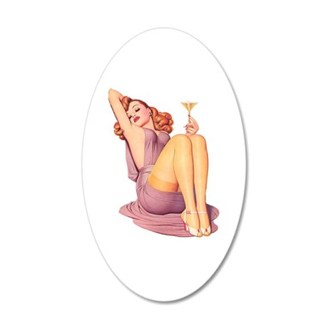 Bottoms Up! 35x21 Oval Wall Decal