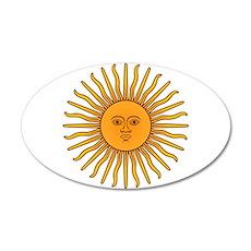 Sol de Mayo 20x12 Oval Wall Decal