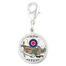 long nose spitfire Silver Round Charm