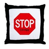 Stop Javier Throw Pillow