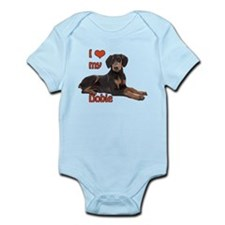 I heart my Doberman Infant Bodysuit