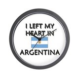 I Left My Heart In Argentina Wall Clock