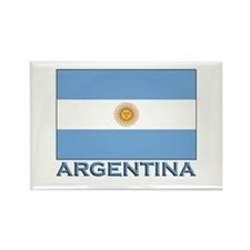 Argentina Flag Gear Rectangle Magnet