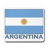 Argentina Flag Gear Mousepad