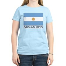 Argentina Flag Gear Women's Pink T-Shirt