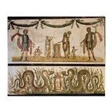 Pig sacrifice, Roman fresco - Throw Blanket