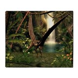 Pteranodon pterosaur, artwork - Throw Blanket