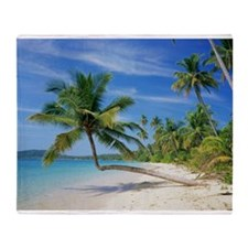 Tropical beach - Throw Blanket