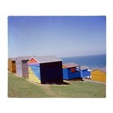 Beach huts - Throw Blanket
