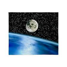 Earth and moon - Throw Blanket