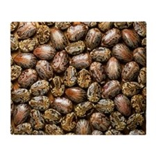 Seeds of the castor oil plant - Throw Blanket