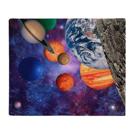 Solar system throw blanket by sciencephotos for Solar system fleece fabric