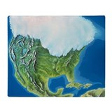 North American glaciation - Throw Blanket