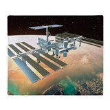 The International Space Station - Throw Blanket