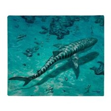Tiger shark - Throw Blanket