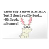 ADHD bunny Decal