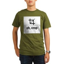 """oh, crop"" Ash Grey T-Shirt T-Shirt"