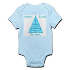 Greek Food Pyramid Infant Bodysuit