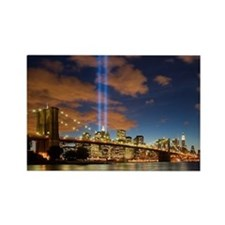 WTC Lights Brooklyn Bridge Rectangle Magnet