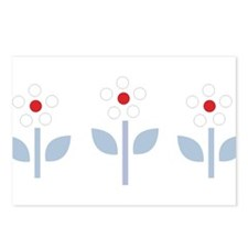 3 flowers Postcards (Package of 8)
