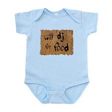 Will DJ For Food Infant Bodysuit