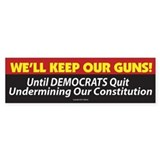 Pro Second Amendment Bumper Sticker