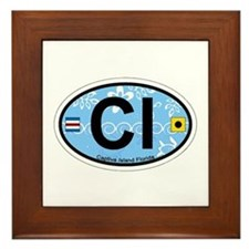 Captiva Island - Oval Design. Framed Tile