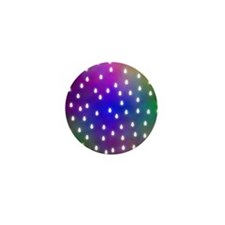 Rain Drop Pattern. Mini Button