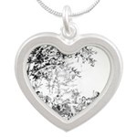 campfire.png Silver Heart Necklace