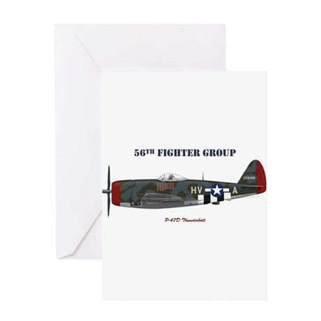 56th Fighter Group Greeting Card