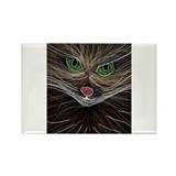 brown and white magical wispy cat line art by Tia