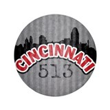 "Cincinnati Area Code 3.5"" Button"