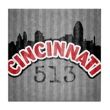 Cincinnati Area Code Tile Coaster