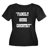 FAMILY GUNS COUNTRY Women's Plus Size Scoop Neck D