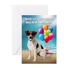 Birthday Card With Smiling Dog Humor