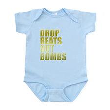 Drop Beats Not Bombs Gold Onesie