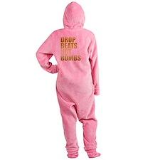 Drop Beats Not Bombs Gold Footed Pajamas