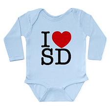 San Diego Long Sleeve Infant Bodysuit